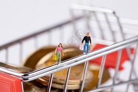 购物小人图片