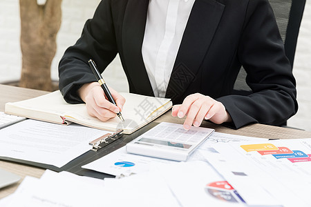 职场女性办公写字图片