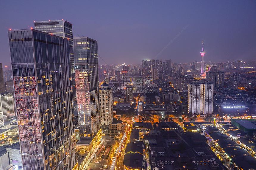 四川成都城市夜景图片