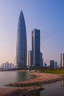 广东深圳湾公园海边地标建筑图片