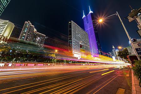 夜景深圳城市中心图片