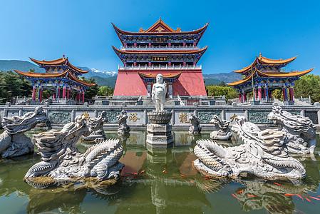 云南大理崇圣寺石雕图片