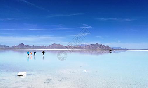 美国西部行盐湖天空之镜图片