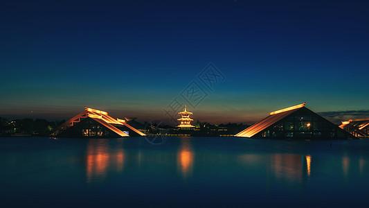 广富林遗址夜景图片