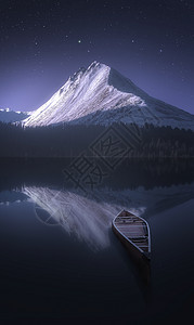 天山夜色图片