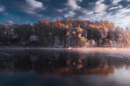 天鹅湖之晨图片