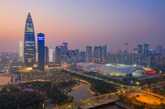 俯瞰深圳南山区人才公园图片