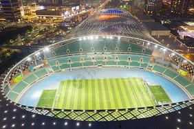 深圳体育中心球场夜景图片