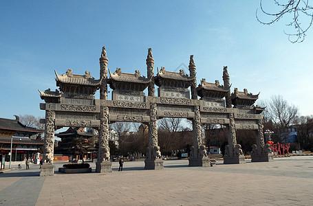 广佑寺青石牌坊图片