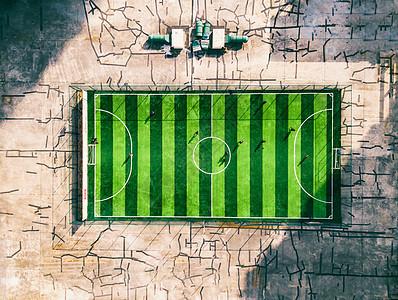 航拍足球场图片