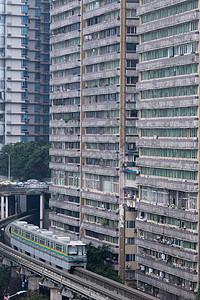 重庆市穿楼轻轨图片