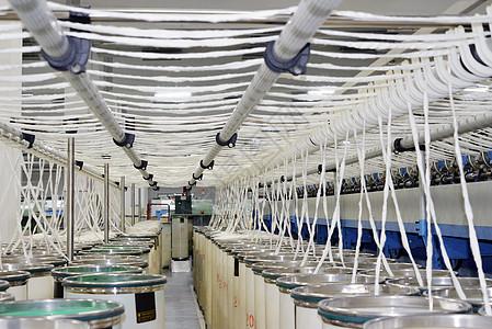 现代纺织厂纺纱图片