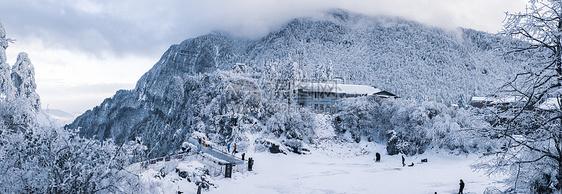 峨眉山雪景图片
