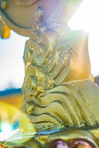 峨眉山金顶雕塑图片