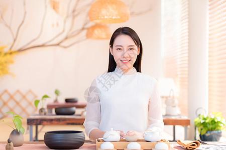 美女茶艺师图片
