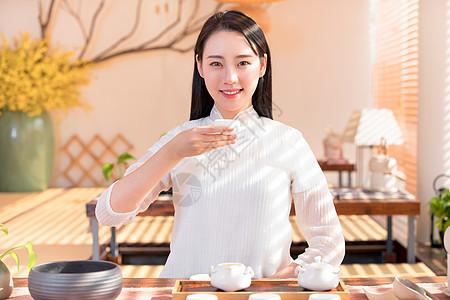 古风茶艺美女图片
