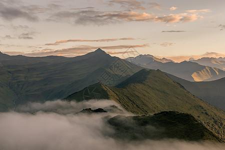 达瓦更扎群山云海日出云层图片