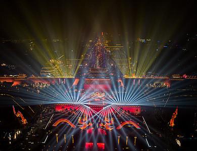 西安城墙灯会图片