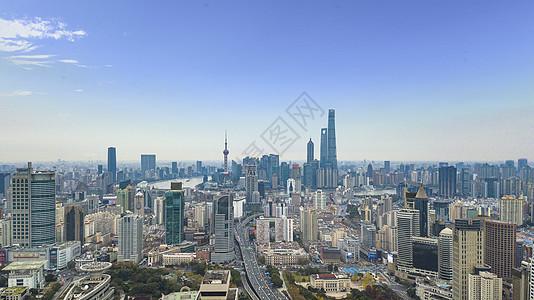 上海陆家嘴全景航拍 图片