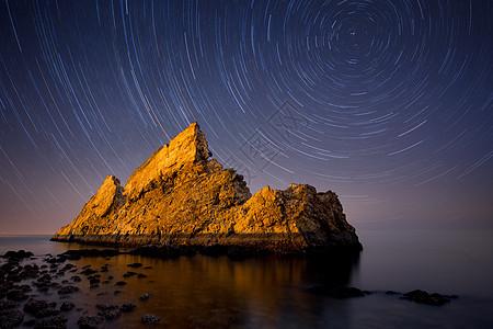 璀璨星空夜景图片图片