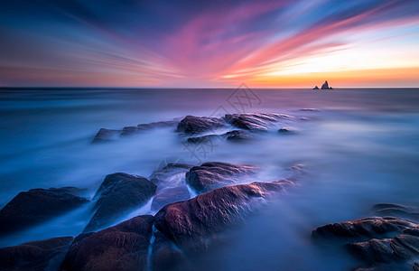 海岸礁石图片