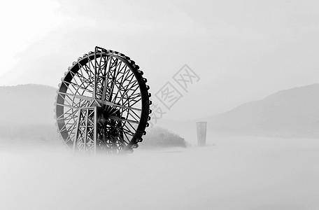 海市蜃楼城市风格的平流雾图片
