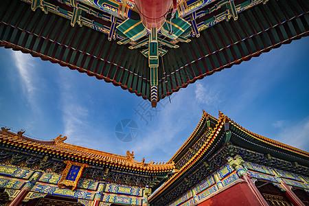 北京景山公园寿皇殿图片