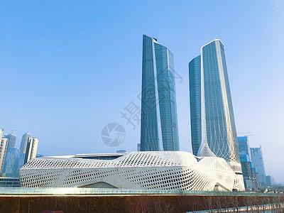 南京保利大剧院与青奥双塔楼图片