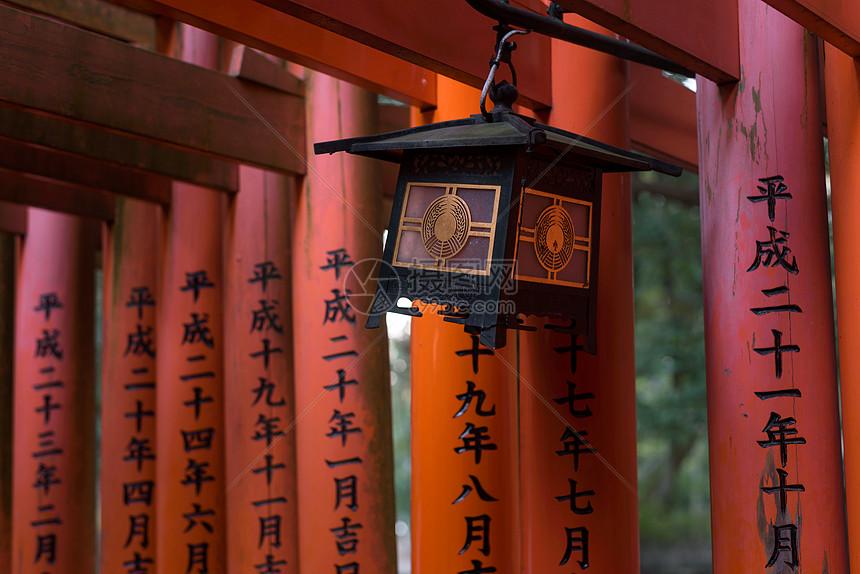 日本京都神社装饰图片
