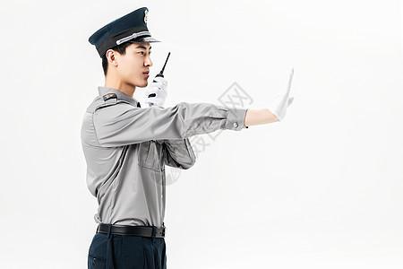 保安使用对讲机图片