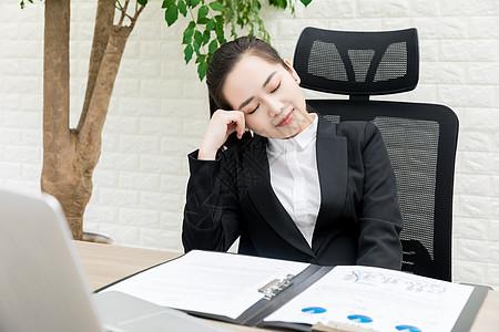 女性商务办公休息图片
