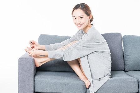 女性生活涂脚指甲图片