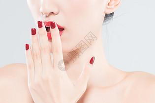 女性美妆美甲图片