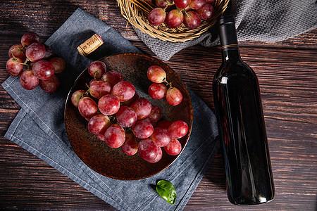 红提红酒图片
