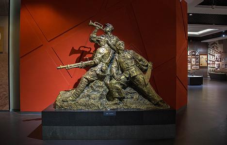 江西省博物馆浴血奋战雕塑图片