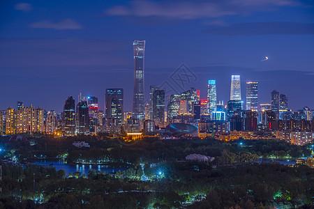 夜景北京CBD图片