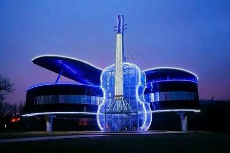 宁波余姚龙山公园夜景图片