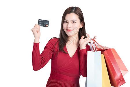 时尚女性618购物刷卡消费图片
