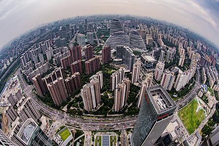 北京望京CBD城市全景图片