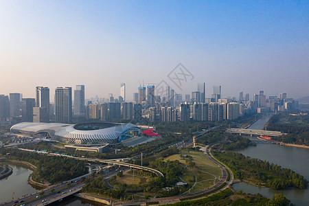 俯瞰深圳湾公园全景图片