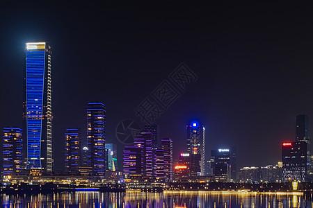 广东深圳南山区前海城市夜景图片