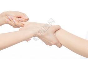 女性手指按摩拉伸图片