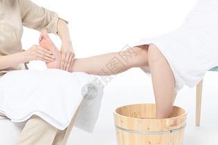 女性足底按摩图片