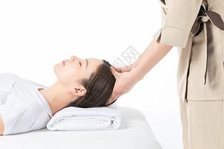 女性头部按摩图片