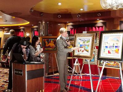 邮轮上的艺术品拍卖会图片