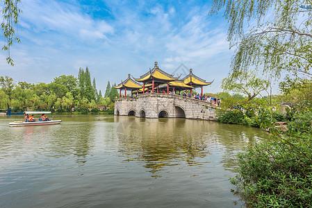 江苏扬州瘦西湖春季风光图片
