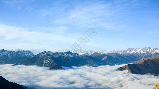 四川达瓦更扎云海图片