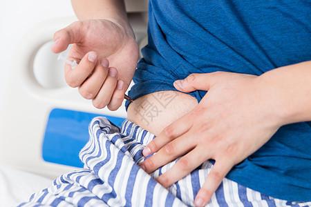 胰岛素注射特写图片