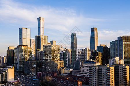 北京CBD城市建筑群图片