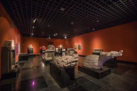 西安碑林博物馆石刻艺术馆内景图片